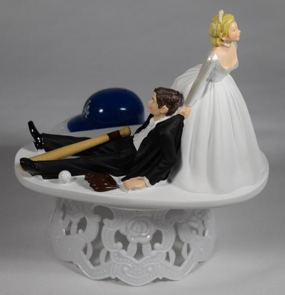 angels baseball wedding cake topper handmade wedding cake topper mlb themed los angeles dodgers 10763