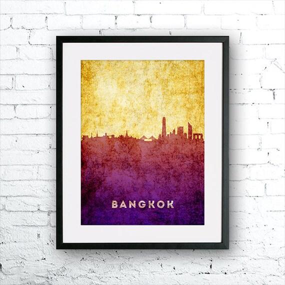 Bangkok illustration Art Print Bangkok painting Thailand