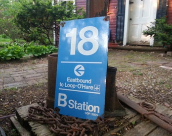 Chicago CTA salvaged station sign