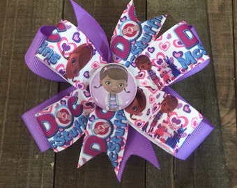 Doc McStuffin Hair bow...Boutique style Doc Mc Stuffin Hair Bow
