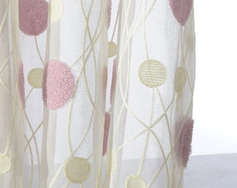 two white raindrop sheer curtains custom made to order up to