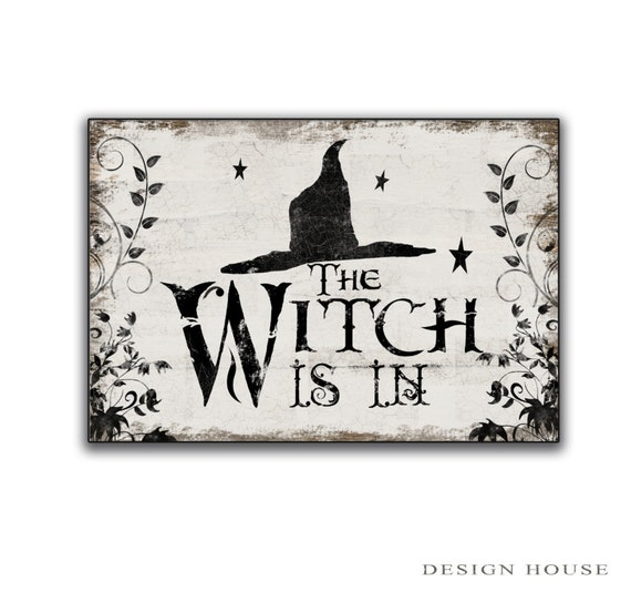 Halloween wooden sign Halloween decor Witch decor Halloween
