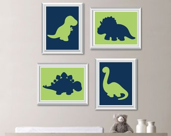 Baby Boy Nursery Art - Boy Nursery Decor - Dinosaur Nursery Art - Dinosaur Bedroom Art - Dinosaur Bedroom Decor - Dino Bedroom Art (NS-766)