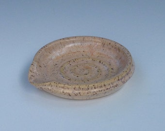 Spoon Rest Stoneware pottery Shimmering Apricot