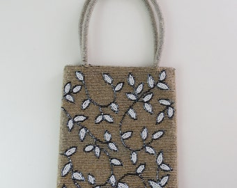 Bag, embroidered vintage all around with beads, beautiful,