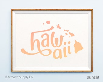 Hawaii print - Hawaii art - Hawaii poster - Hawaii wall art