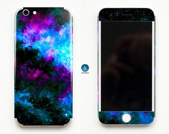 Something Blue Galaxy iPhone Skin iPhone decal iPhone sticker for iPhone 4, iPhone 4s, iPhone 5, iPhone 5s and iPhone 6 Space Stardust Stars