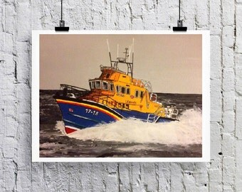 Lifeboat Art print/Greetings card