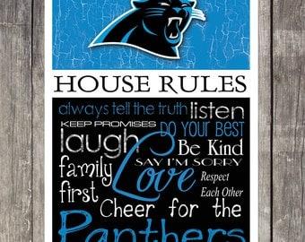 CAROLINA PANTHERS House Rules Art Print