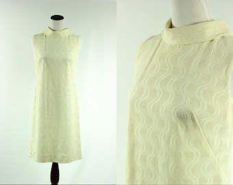 60s Ivory Squiggle Mod Dress