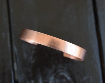Copper Engravable Stampable Adjustable Cuff Bracelet, Made in the USA, 1pc