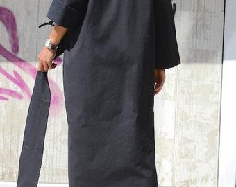Plus size loose top, loose dress, black dress top, black loose dress, oversized dress, extravagant tunic, plus size dresses, maternity dress