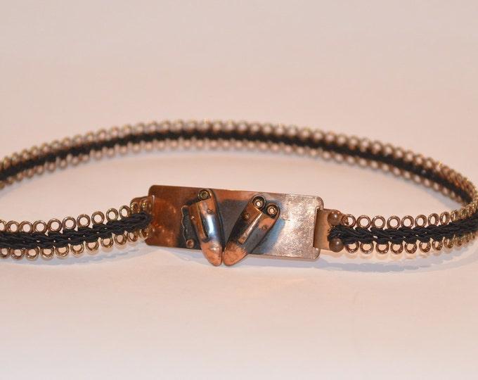 Vintage Estate Rebajes Copper Mask Cinch Belt