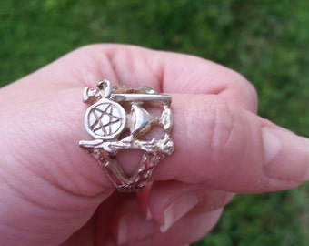 Tarot Ring in Sterling Silver  FREE SHIPPING