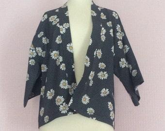 Vintage daisy 3/4 sleeve kimono