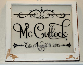 Personal Vintage Decor for Weddings Anniversaries Birthdays Family Heirlooms Signage
