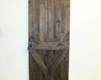 Custom Rustic Barn Door  X Style