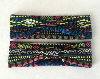 Neon Aztec Head Wrap, Headband