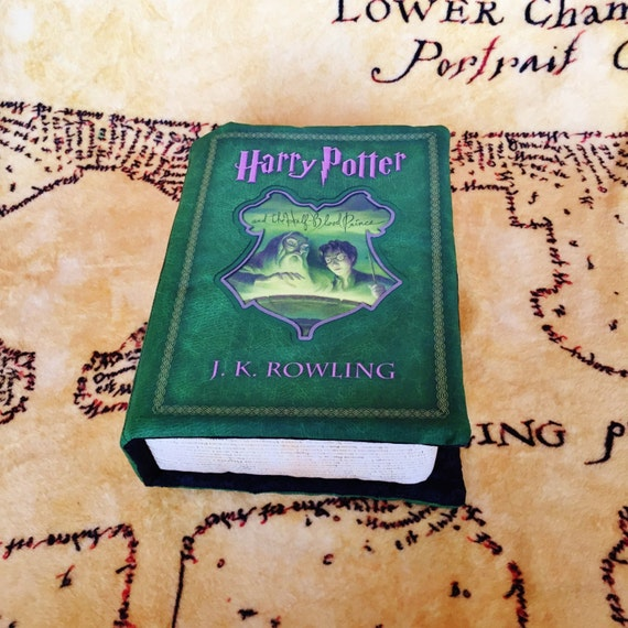 Harry Potter Book Cover Fabric ~ Harry potter book pillow half blood prince