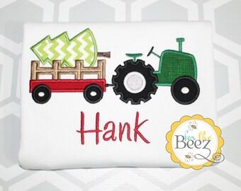 Christmas Shirt, Boys Christmas Shirt, Holiday Shirt, Tractor Christmas Shirt, Christmas Outfit, Personalized Christmas Shirt, Tractor Shirt