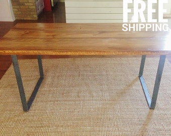Modern Dining Table | Reclaimed Wood Dining Table | Kitchen Table | Free shipping