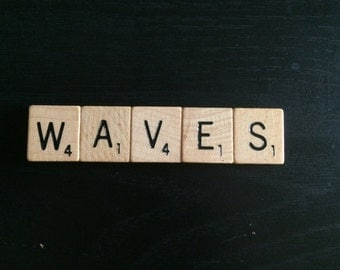 Scrabble Tile Magnet Waves