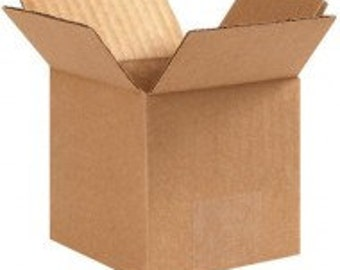 25 - 4x4x4 Brown Shipping Boxes - 25 Corrugated Boxes - Shipping Supplies - Cardboard Box - Packaging - Fed Ex Box - Mailers - Small Boxes