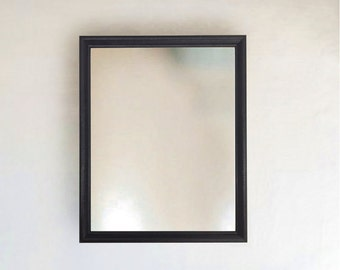 Funky Abstract Patterned Thin Black Framed Mirror size 8x10