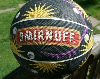 Vintage Rawlings RR1  Basketball Advertising Smirnoff, Never Used