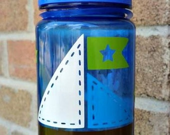 Nautical Sail Boat Water Bottle for Kids