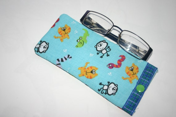 Items similar to sale kids glasses case childrens fabric for Childrens fabric sale