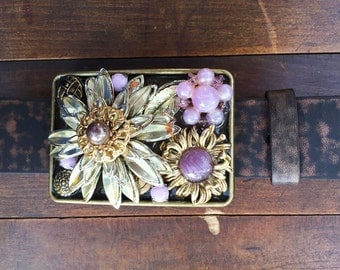 Flower Garden Belt Buckle