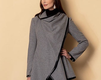 Butterick Sewing Pattern B6255 Misses' Oversized Collar Coats