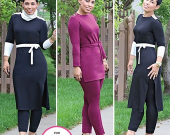 Simplicity Sewing Pattern 1019 Misses' Knit Tunic and PIntuck Pants from Mimi G Style