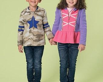 McCall's Sewing Pattern M7239 Children's/Boys'/Girls' Zippered Jackets