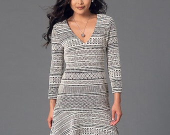 McCall's Sewing Pattern M7244 Misses' Drop-Waist Dress