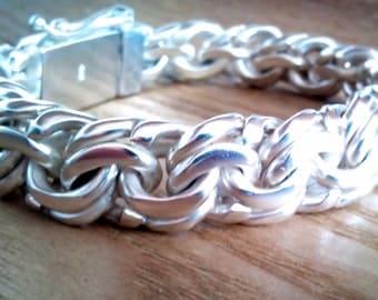 Solid havy 925 silver bracelet  Bismark Garibaldi