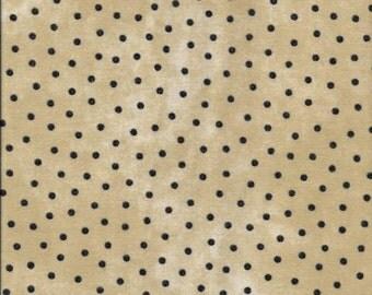 45'' Maywood Studios Tan Polka Dots Woolies Flannel MASF 18506-TJ by the Yard