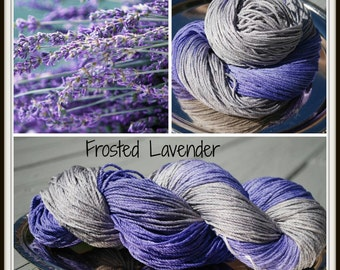 Frosted Lavender Worsted Weight 100% Silk Yarn