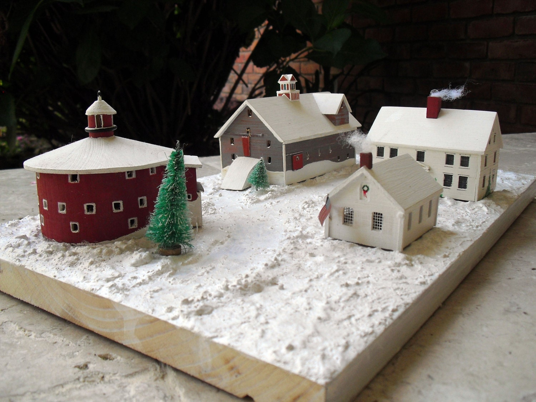 #336047 Vintage Handmade Christmas Village Decor Wood Miniature 6125 decoration de noel village miniature 1500x1125 px @ aertt.com