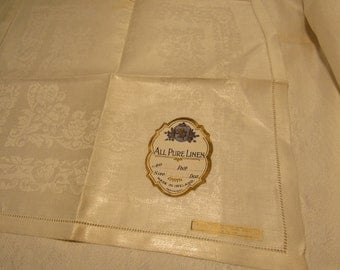 "Irish linen 4 pc. 12"" 1/2 x 14"" 1/2"