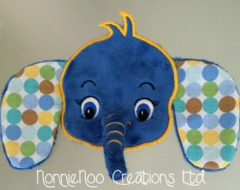 Ellie the Elephant -  Machine Embroidery  for the 4x4 and 5x7 hoop - Vp3. Vip, Pes, Hus, Exp,  DST,  XXX & Jef formats.