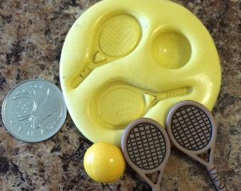 Tennis Racket and Ball Mold Set silicone