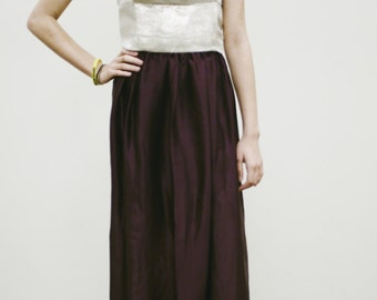 One of a Kind Plum Maxi Skirt Size 6
