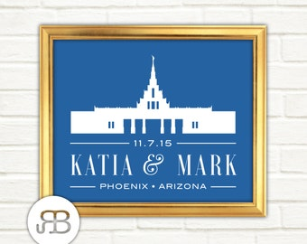LDS Temple - Phoenix Arizona - Personalized Printable Design - PDF / JPEG File