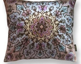 Sofa pillow natural velvet cushion cover MAUVE