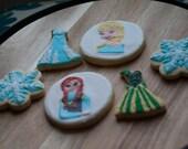 Frozen INSPIRED cookies - Disney Frozen - One Dozen