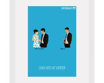 500days of summer movie poster postcard 4'X6'