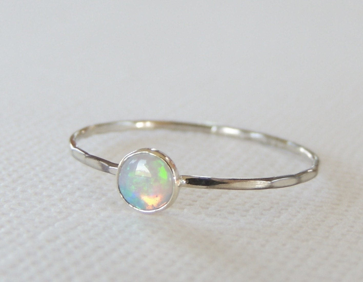 opal ring white gold ring gold opal ring organic ring by