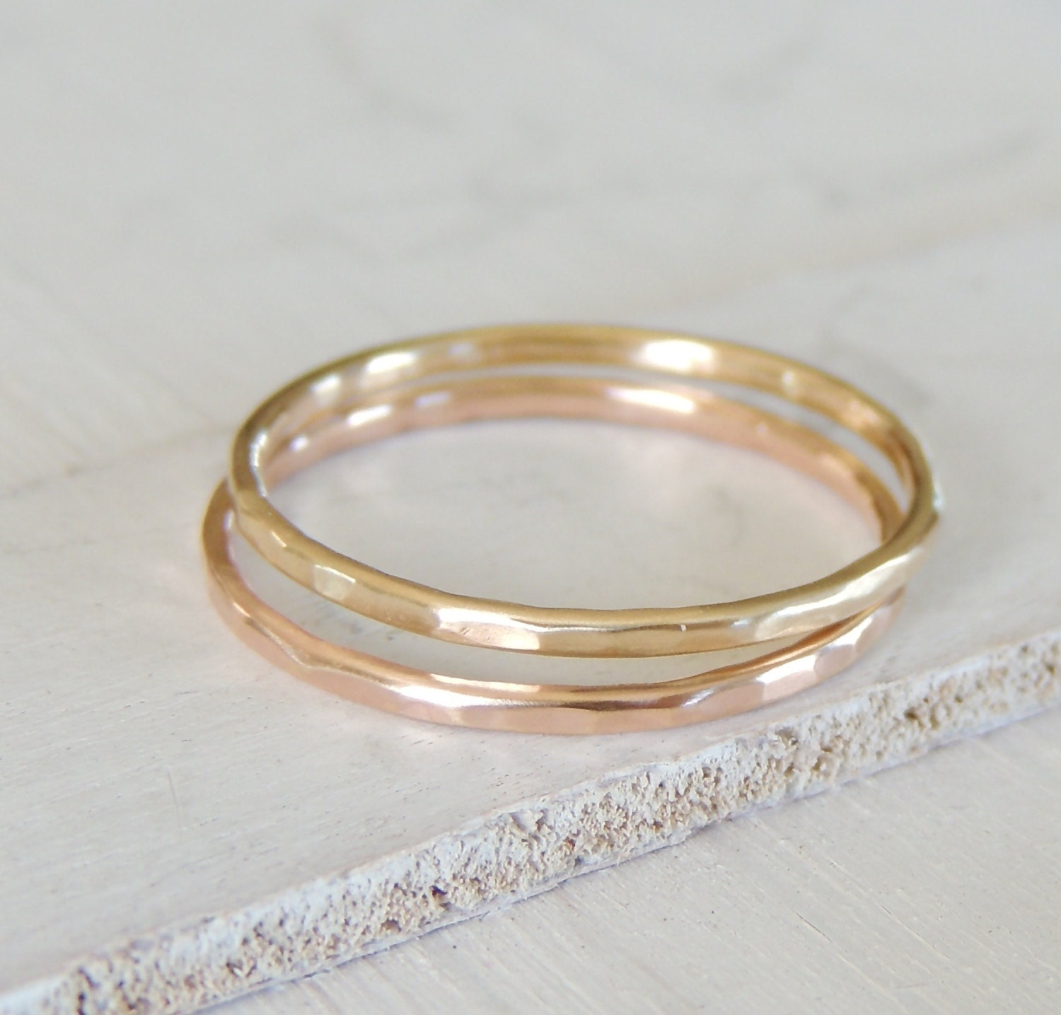 Simple Wedding Ring Wedding Band 14k Yellow Gold Ring by Luxuring